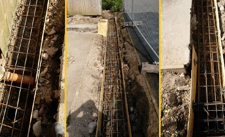 Piling foundations for home extension bolton basetec for Piling for house foundations