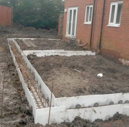Piling Foundations In Standish For Shared Wall Basetec