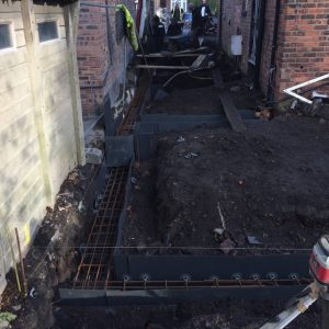 extension piling in Salford