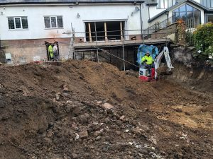 basement construction in Bolton