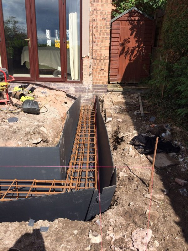 Conservatory piling foundations in congleton basetec for Foundation pilings