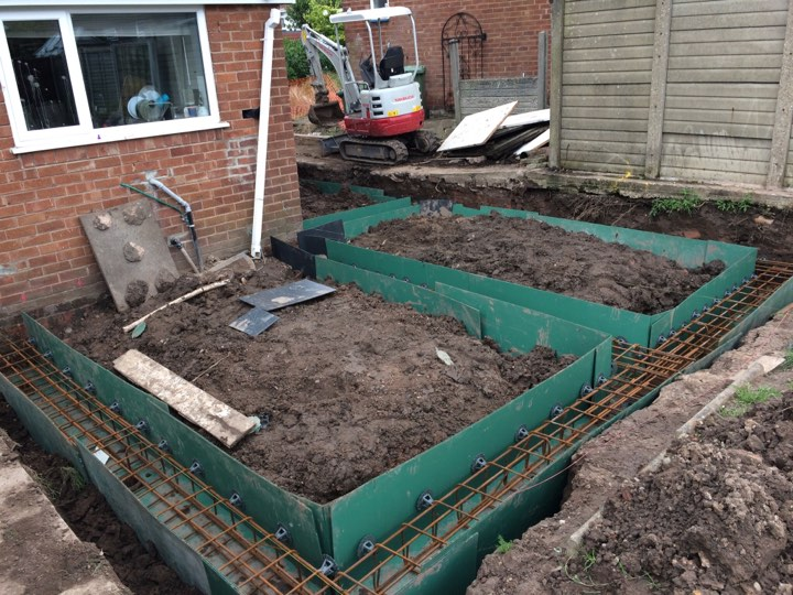 Extension foundation piling in macclesfield basetec piling for Foundation pilings