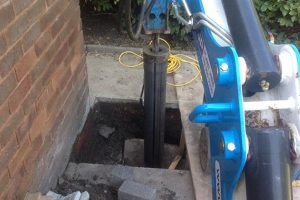 mini piling installation